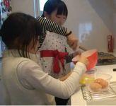 妹紗来と卵焼き作り