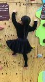 長女のボルダリング