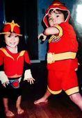 1歳当時の岡田結実と兄隆之介