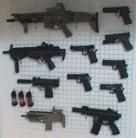 本郷奏多自宅のサバイバルゲームの銃
