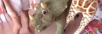遊び部屋の恐竜