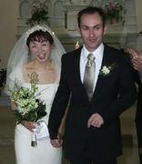 坂上みき結婚式で夫と